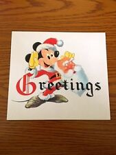 "Disney D23 ""Walt Disney and Staff"" Christmas Card (1947) Gold Member Exclusive"