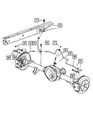 Genuine Mopar Brake Tube And Hose Assembly 52121634AG