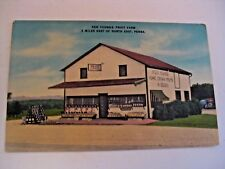 NOS VINTAGE KEN YOUNGS FRUIT FARM NORTH EAST PENNA. ADVERTISING POSTCARD