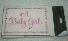 Hallmark Girl Birth Announcement Baby Shower Party 8 Invitations Cards Pink