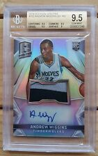 2014-15 ANDREW WIGGINS Spectra Rc Rookie Patch Auto BGS 9.5, none higher!
