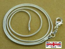"""925 Sterling Silver Thin Round Snake Chain Necklace  1.2MM Length 24"""" Inches"""