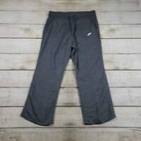 Nike Womens Activewear Pants Gray Mid Rise Pocket Drawstring Pull On Plus 1X