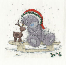 "DMC Christmas Tatty Teddy ""Friends in the Snow"" Cross Stitch Kit"