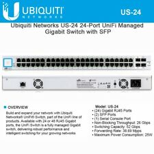 Ubiquiti US-24 - UniFiSwitch, 24-Port, NO PoE included.