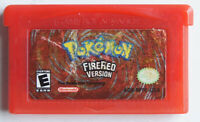 AUTHENTIC Pokemon Fire Red Version Save Properly GBA