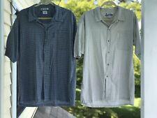 Mens 2 Columbia Sportswear Light Weight Cotton Button Down Shirts Sz Large