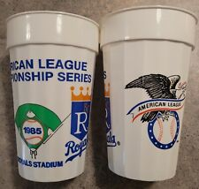 Lot of Two (2) 1985 ALCS Kansas City Royals vs Toronto Blue Jays Playoff Cups