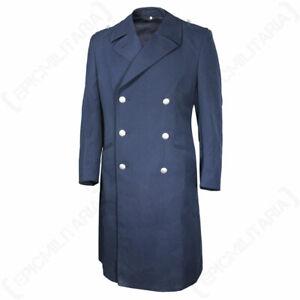 Original Bundesdwehr Luftwaffe Blue Coat - Size 34 inch Surplus Extra Badge