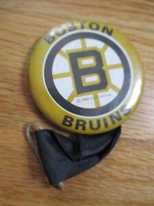 """1969 BOSTON BRUINS 2.25"""" Button w Ribbon"""