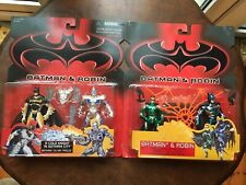 BATMAN & ROBIN MOVIE x 2 TWIN PACKS ACTION FIGURES by KENNER C1997