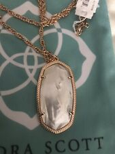 NWT Kendra Scott Rae Long Pendant Necklace In White MOP $80.00