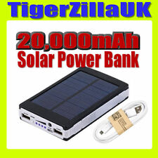 20000mAh Solar Power Bank Caricabatteria Mobile USB per iPhone iPad pannello UK