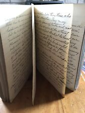 Antique Ledger Hand Written Journal Notes From Books 1917-23 Vintage Student