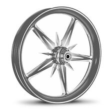 "DNA ""THREAT"" CHROME FORGED BILLET WHEEL 18"" X 10.5"" REAR HARLEY 280-300 TIRE"