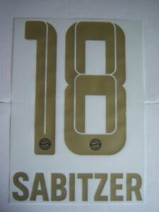 FC Bayern München orginal Flock Sabitzer 18 Away 2021/22 Gr.128-140-152-164 Kids