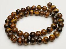 Tigerauge Edelstein Perlen braun rund Kugel Gemstone beads 8 mm