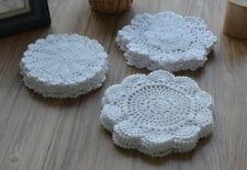 Lot 30 Hand Crochet Doilies White Round Christmas Snowflake Wedding Ornaments