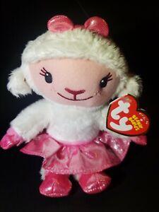 *NEW* MWMT TY LAMBIE Beanie Babies Disney DOC MCSTUFFINS Pink Bow Girl