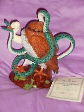 Minton Majolica Reproduction  Vulture & Python L/E Teapot certificated & boxed
