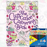The Cupcake Colouring Book by Ann Kronheimer With Colour Pencils Paperback NEW