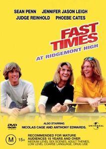 Fast Times At Ridgemont High DVD (Pal, 2003) FREE POST