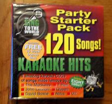 SALE !  Karaoke Party Starter Pack CD+G 8 discs 120 songs, RRP £59.99
