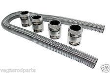 Stainless Steel Radiator Hose 48 dual  inch hose universal two hose kit polished