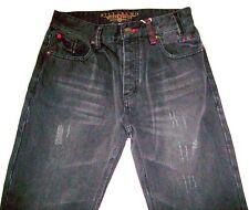 Men's Boy's Billabong Antwerp Destroyed Denim Jeans Heavy Metal Black Size 28