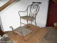 1870 ant. KINDERSCHLITTEN EISSCHLITTEN Gründerzeit Stuhlschlitten Eisenschlitten