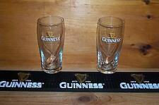 GUINNESS BEER MAT BAR COASTER & 2 GUINNESS GALAXY STYLE PINT GLASSES NEW