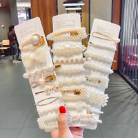 Solid Pearl Hair Clips Set for Women Hair Barrette Hairpin Snap Barrettes Trendy