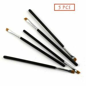 5XEyebrow Brush Tinting Eye-shadow Pro Angled Cosmetic Eye Brow Brushes Set UK