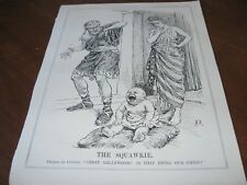 1929 Original POLITICAL CARTOON  HOLLYWOOD as SQUAWKIE BABY Talkie SILENT MOVIES