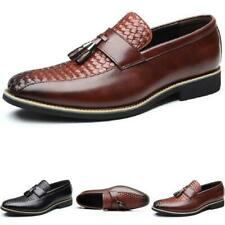 Men Dress Formal Business Leisure Shoes Pointy Toe Oxfords Work Office Slip on L
