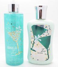 New Bath & Body Works VANILLA TINI BODY LOTION & SHIMMER MIST Full Size 8 FL. OZ