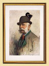 Emperador Franz Joseph como Weidmann cazador facsímil k&k 116 Austria marcos de oro