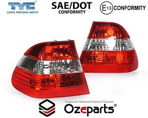 Set / Pair LH+RH Tail Light Lamp Clear Middle For BMW 3 Series E46 Sedan 01~05