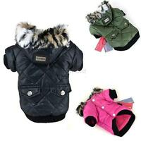 Pet Clothes Winter Warm Jacket Dog Coat Puppy Fur Waterproof Apparel Costume Hot