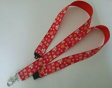 Red butterfly lanyard safety breakaway ID badge holder teacher student gift