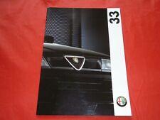 ALFA ROMEO 33 1.4 IE L 1.7 IE 16V Q4 Prospekt Brochure von 1993