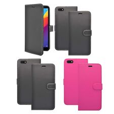 Case For Honor 7S Wallet Flip PU Leather Stand Card Slot Pouch Phone Cover