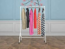 Vinsani 4ft Garment Heavy Duty Rail Clothes Shirts Hanging Display Stand - White