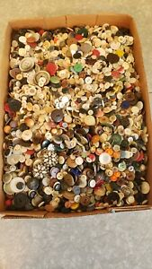 Antique~Vintage~Mixed Lot of 12+ LBs Collector Buttons for Sewing or Craft