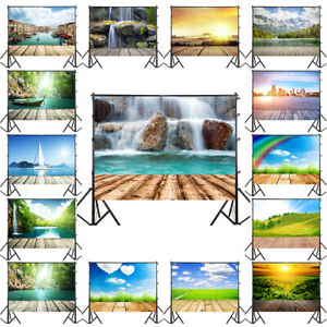 Nature Scenery Wood Floor Background Cloth Studio Photography Backdrop