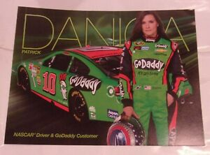 Danica Patrick # 10 Go Daddy 11X8.5 Inches Poster Sign Card