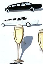 CELEBRATION BRADS Wedding Limo Champagne Prom Scrapbooking Card Making Stamping