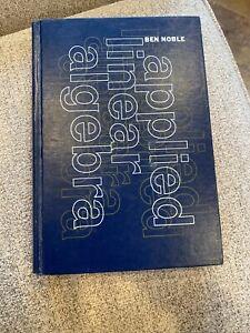 """1969 BOOK """"APPLIED LINEAR ALGEBRA"""" BY BEN NOBLE"""