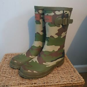 Joules Camouflage/army Style Wellington Boots Size 4.