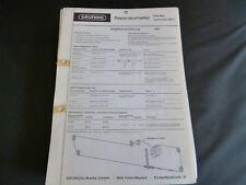 ORIGINALI service manual Grundig Elite BOY Automatic 208a